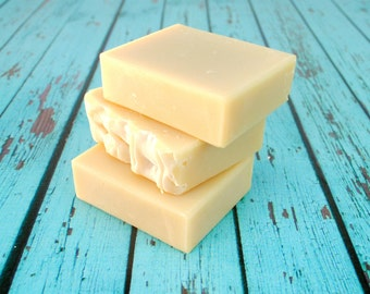 Plain Goat Milk Soap, Handmade Soap, Unscented Goat's Milk Soap, Homemade Soap, Fragrance Free Soap, Plain Soap