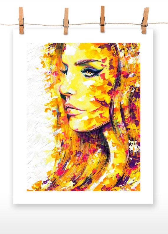 SIDEWAYS Print of an Original Acrylic Painting of Lana Del Rey