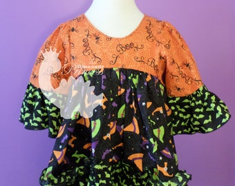 Boutique Custom High-Low Bustle Shirt - you choose the fabrics! Halloween, Christmas, or Special Occasion