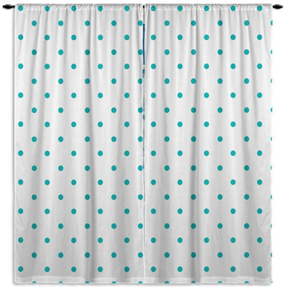 Items similar to turquoise window curtains kids window for Kid curtains window treatments