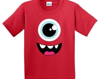 Personalized Monster Eye Googly eyes Fun Funny Tshirt Birthday Party T shirt Lots of Colors - Party Event Infant through Teen
