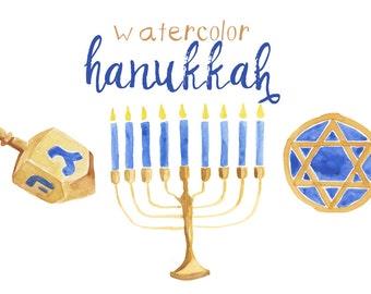 Hanukkah clipart | Etsy