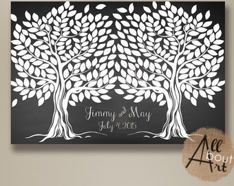 Chalkboard Wedding guest book - Wedding Guest book Alternative - Wedding guestbook - Wedding Tree Poster - Guest Books - 300 signatures # 12