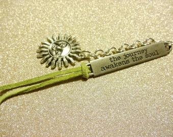 Celestial Bookmark, Celestial Gift, Inspirational Bookmark, The Journey Awakens The Soul Spiritual Book Marker, Gift For Teacher