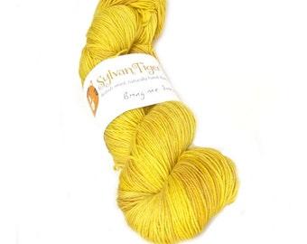 Hand dyed yarn BFL 4ply 'Bring me Sunshine'