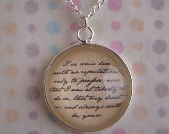 "Sense and Sensibility ""My Heart is Yours"" Necklace"