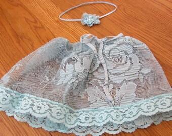 Newborn Girls Skirt and Headband Set