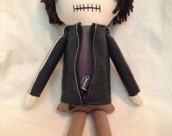 "Creepy n Cute Zombie Doll - ""Gareth"" - Inspired by TWD (P)"