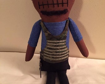 "Creepy n Cute Zombie Doll - ""T-Dog"" - Inspired by TWD (D)"