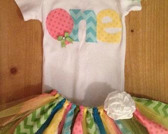 1st Birthday Balloon Tutu Outfit