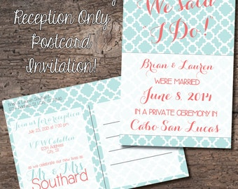 4x6 Postcard Reception Only Invitation