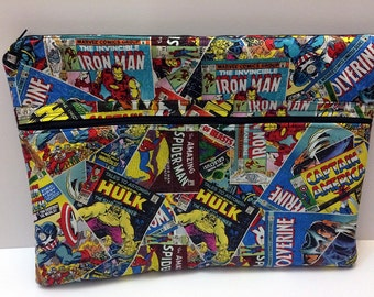 "Marvel Comics Book Laptop Macbook Pro or Air Case Sleeve with Zipper 13"" 15"" Wolverine Hulk Spider-Man Iron Man Captain America"