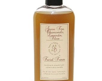 Sample -  Antioxidant Acne/Rosacea Facial Toner with Green Tea, Chamomile, Lavender & Collodial Silver - VEGAN