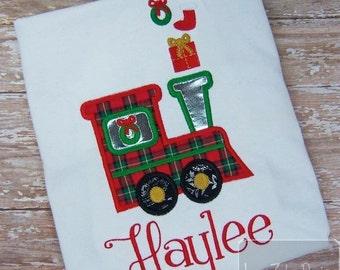 Christmas Train Appliqué embroidery Design - Train Appliqué Design - Christmas Appliqué Design - Boy applique design