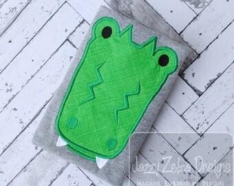 Alligator Applique embroidery Design - gator Applique Design - alligator Applique Design - swamp Applique Design