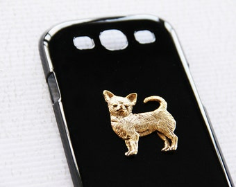 Chihuahua Samsung Galaxy S3 Golden Super-Glossy Hard Shell Black Case iPhone 6 Plus Case