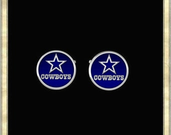 Dallas Cowboys Cufflinks - Silver Plated Cufflinks