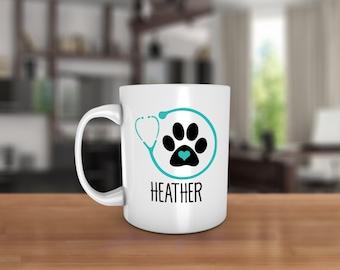 Graduate Vet Ceramic Coffee Mug - Dishwasher Safe - Veterinarian Coffee Mug - Veterinarian Stethoscope - Veterinarian Graduate Mug