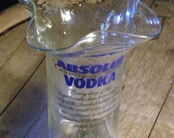 "Absolut Vodka Vase  ""Pyro"" recycled -  Upcycled-"