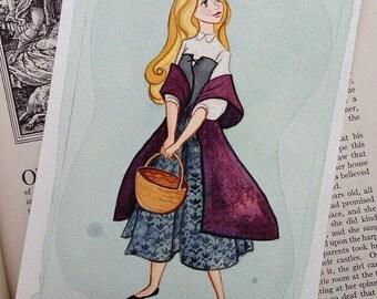 "Sleeping Beauty Fine Art Quality Print on Lustre Paper 4x6"""
