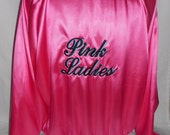 New women's 1950's grease pink ladies jacket costume X Large