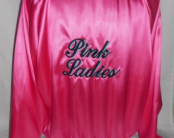XL women's 1950's grease pink ladies jacket costume costumes
