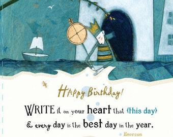 BIRTHDAY CARDS No.3 - set of 6 cards by Pamela Zagarenski