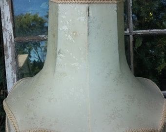 Vintage  Very Large Scalloped Silk Lampshade from the 1940's. Cottage Chic, Shabby Chic