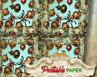 CHRISTMAS  TOYs - Printable wrapping paper for Scrapbooking, Creat - Download and Print