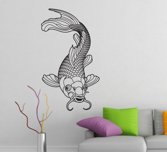koi wall decal vinyl sticker decals art decor tattoo inspired