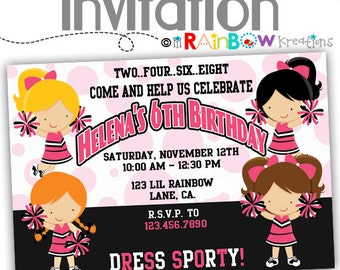 101: DIY - Cheerleader Party Invitation Or Thank You Card