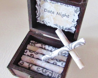 Girlfriend Birthday Gift, Wife Birthday Gift, Date Night Scroll Box, Valentine Gift Idea, Birthday Gift Idea, Girlfriend Anniversary