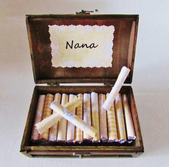 Nana Gift, Grandma Gift, Nana Christmas, Nana Birthday, Grandma Christmas, Nana Scroll Box, Grandma Quotes in Wood Box, Grandma Birthday