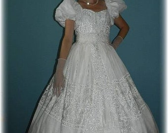 "Civil War, Disney's style ""Enchanted"" Princess Wedding Dress Southern Belle Costume"