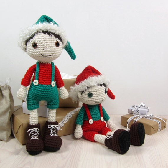PATTERN: Christmas Elf Amigurumi doll pattern Crochet
