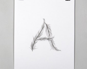 Feather Initial Print