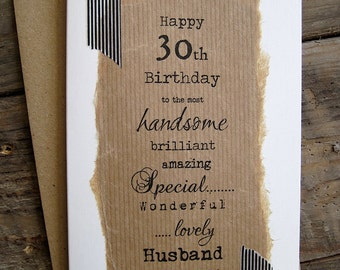 30th 40th 50th Birthday Card for Husband, Boyfriend, Wife, Girlfriend, Partner, Fiance. Personalised 21 30 40 50 60 70 Size A6: 15x10.5cm