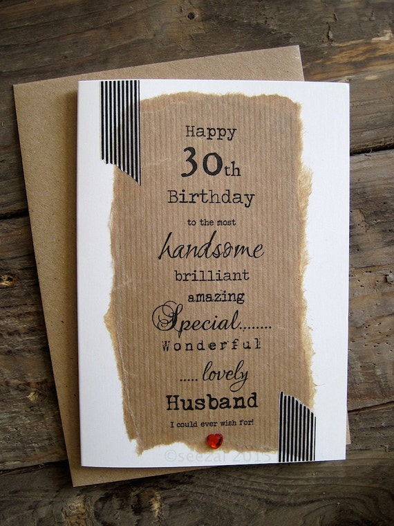 30th 40th 50th Birthday Card for Husband Boyfriend Wife