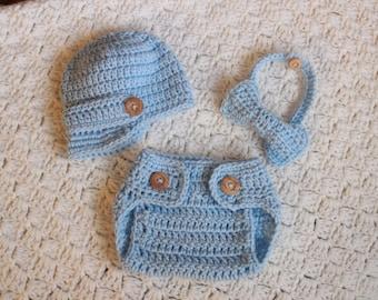 Baby Boy Newsboy Hat Diaper Cover Bow Tie Outfit Newborn Hat Newsboy Hat baby Boy Hat Baby Boy Beanie Crochet Beanie Photo Props