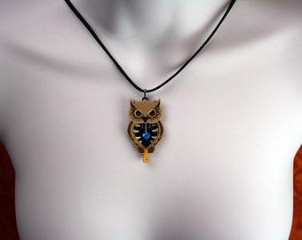 Owl Unzipped Pendant