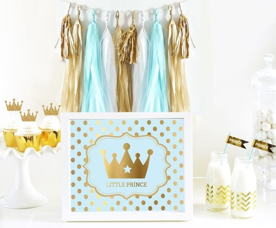 little prince royal prince themed baby shower eb3058fy sign