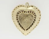 14K Gold Heart Locket with Diamond