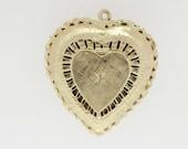 14K Gold Heart Locket with Diamond