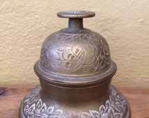 Vintage Brass Bell with Base