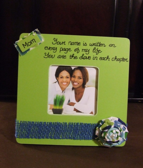 Items Similar To Christmas Gift For Mom Personalized Frame