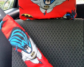 Character Headrest and Seatbelt Cover