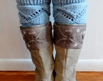 Lace Boot Cuffs. Different colors. Leg Warmers. Hand Knit boot Toppers. Fashion Accessory for Women and Teens. Set of 2 pcs.