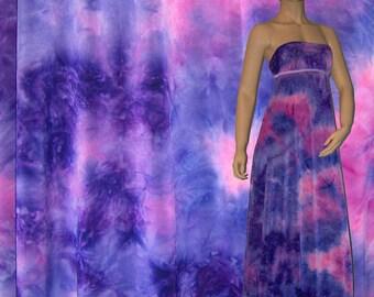 Stretch Fabric - Tie Dye Print Fabric Plum Daze Four way Stretch Spandex Fabric 1/8, 1/4, 1/2 Yard Cut Item # RXPN-TDT21