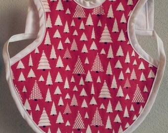 Christmas Tree Bapron, Christmas Tree Bib, Christmas Baby Bib, Christmas Bapron, Baby Shower Gift, Baby Boy Bib, 6-18 Months or 24 Months-3T