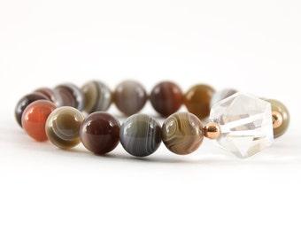 Botswana Agate Bracelet, Gemstone Bracelet,